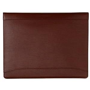 41zT5melZOL. SS300  - Cartera portafolios de estilo ejecutivo - Para documentos de tamaño A4 - Cuero abatanado - Marrón