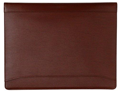 41zT5melZOL - Cartera portafolios de estilo ejecutivo - Para documentos de tamaño A4 - Cuero abatanado - Marrón