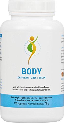 Vihado Body, Chitosan + Vitamin C + Zink + Selen, 100 Kapseln