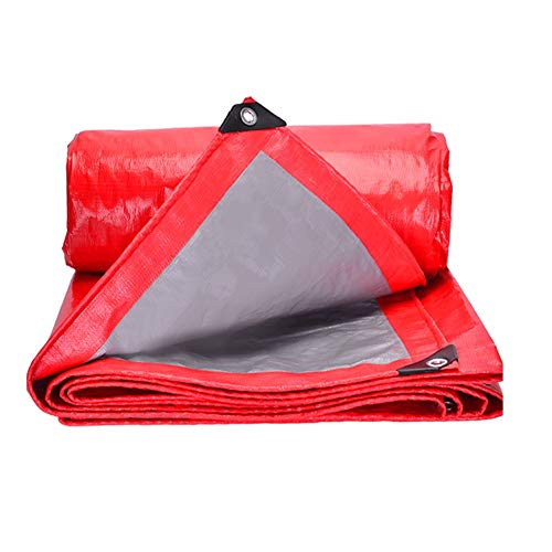 ZHANGGUOHUA Tarpaulin Waterproof Sunscreen Wedding Shed Marry Outdoor Gazebo Roof Stage Exhibition Anti-UV Windshield Covering The Rain (color : Red silver, Size : 5mx5m)