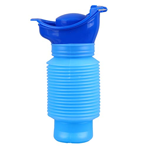 TOYANDONA Urinario de Emergencia Portátil Mini Acampar Al Aire Libre Viaje Titular de Orina Inodoro Móvil Personal Orinal Botella para Niños Adultos (Azul)