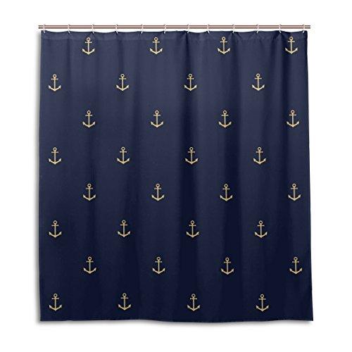 MyDaily Vintage Duschvorhang mit Anker-Motiv, 167,6 x 182,9 cm, schimmelresistent & wasserdicht, Polyester, Dekoration für das Badezimmer