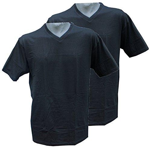 Redfield T-Shirt Doppelpack V-Ausschnitt Blau 8XL