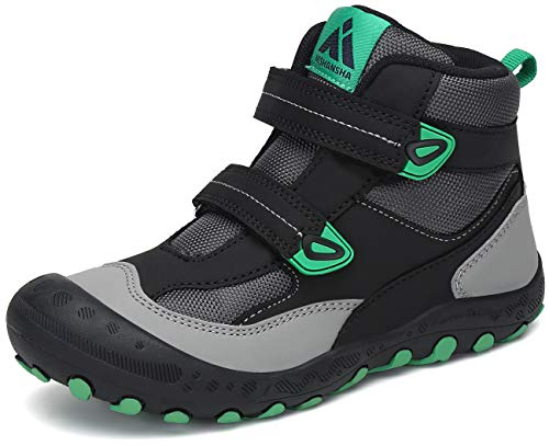 Mishansha Zapatos de Senderismo para Niños Zapatillas de Trekking Niña Antideslizante Exterior Botas de Montaña Ligero, 028 Negro, 38 EU