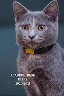 ACADEMIC DESK DIARY 2020-2021: A5 Diary Starts 1 August 2020 Until 31 July 2021. Cats.Paperback With Soft Water Repelling ...