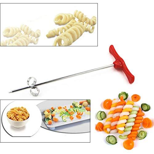 Hihey Kreatives Gemüse Spiralmesser Carving Werkzeug Kartoffel Karotte Gurke Salat Chopper Manuelle Spirale Schraube Slicer Cutter Spiralizer