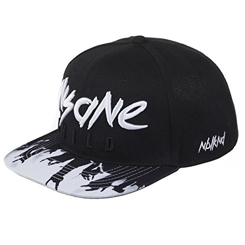Nebelkind Snapback Cap Insane Child Schwarz Weiß Kappe 6-Panel One Size