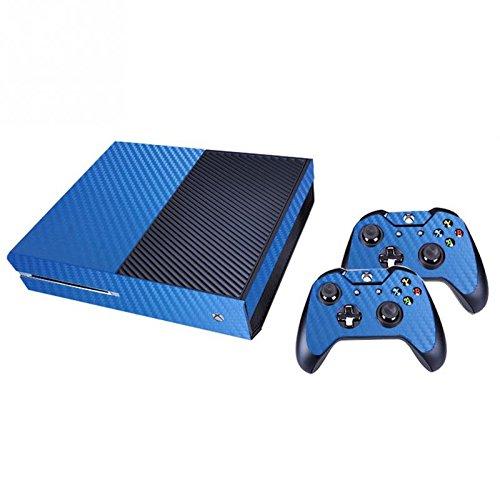 Peaux Autocollant Pour Décalque De Conception En Fibre De Carbone; Skins Xbox One Pour Contrôleur Et Console - Bleu