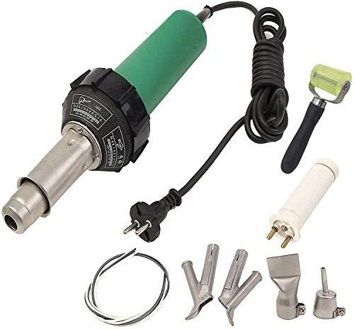 Seababyhouse Profesional 1600W Pistola de soldador soldadura aire caliente de plastico Barra de agarre con boquillas de velocidad Pistola