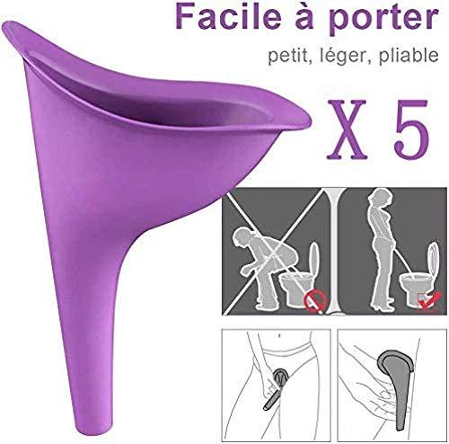 Cortneyrs 5X Orinatoio femminile Orinatoio femminile Dispositivo per minzione urina In piedi Piscia Femmina portatile Viaggiare in campeggio Escursionismo Servizi Bagni pubblici (purple)