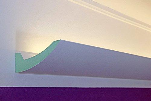 BENDU – Klassische und gleichzeitig moderne LED Stuckleisten bzw. Lichtvouten für indirekte Decken-Beleuchtung aus Hartschaum DBKL-125-PR von BENDU. Kombinierbar mit LED Stripes oder Lichtschlauch.