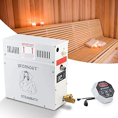 HAOGUO Equipo de calefacción para Sala de Vapor, generador de Vapor de 4.5KW 220V, Ducha, Sauna, Calentador de baño de Vapor para el hogar, Hotel, salón de Belleza, Sauna, SPA