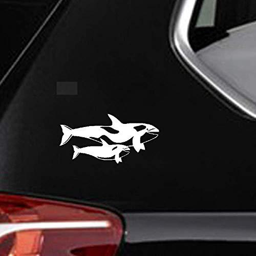 9Cmx17.9Cm familie auto decoratie grote walvis en kleine walvis auto sticker patroon sticker voor auto laptop raam sticker