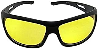 Dervin Nightdrive Driving Easy Day and Night HD Vision Anti-Glare Polarized Black Women's Sunglasses (Yellow)