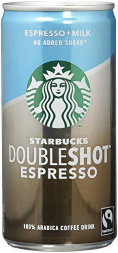 Starbucks DoubleShot Espresso no added sugar, (12 x 200 ml) – Erfrischendes Kaffee Kaltgetränk für unterwegs