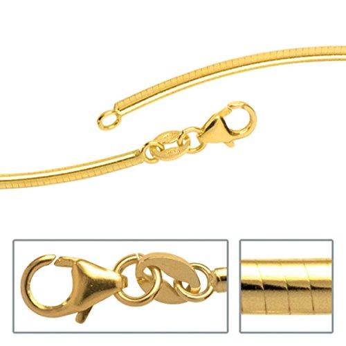 JOBO Halsreif 333 Gold Gelbgold 2 mm 45 cm