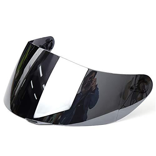 Wooya Full Face Moto Casque Bouclier Anti-Rayures Visière pour Agv K5 K3Sv 316 902-Argent