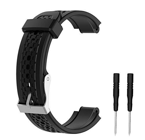 WEINISITE Ajustable Silicone Remplaçant Bracelet Pour Garmin Forerunner 25 Exercice montre (#1, L)