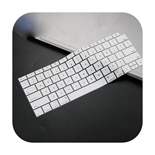 Silicone Keyboard Cover For MacBook Air 13 inch 2019 2018 Release A1932 Touch ID Waterproof Dust-Proof Protective Skin-white