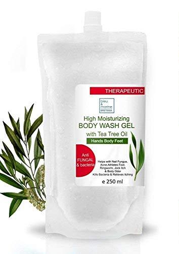 Anti bacteriano Jabón Ultra Hidratante Manos con Aceite de Árbol de Té Anti hongos Anti Acné 250 ml - Gel de Baño- Gel de Ducha