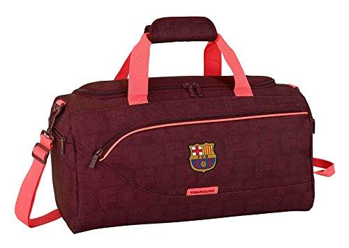 FCB Safta Bolsa De Deporte F.C. Barcelona 3ª Equip 17 18 Oficial 500x250x250mm, Granate