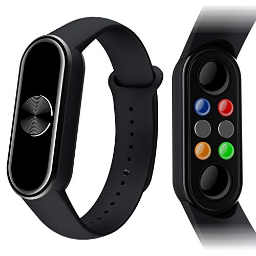 Magnetic Wristband Pain Relief for Arthritis and Carpal Tunnel Health Healing Bracelet ,with EMF Protection Radiation Sticker,American Design, Japanese Material.(Black)