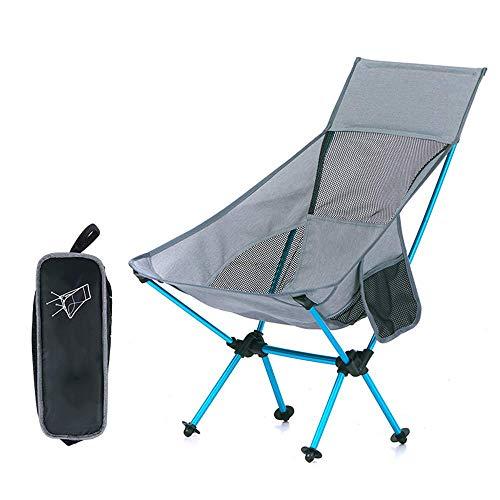 BSDBDF Chaises de Camping Pliantes ultralégères en Aluminium Respirant, pour la pêche, Les Festivals, la Plage Size Gris