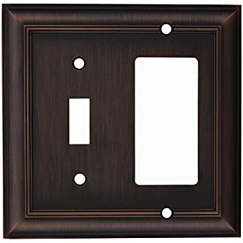 roth Cosgrove Toggle//Duplex 2-gang Wall Plate Oil Rubbed Bronze #0140279 allen