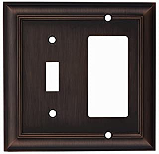 Allen + roth Cosgrove 2-Gang Oil-Rubbed Bronze Single Round Wall Plate