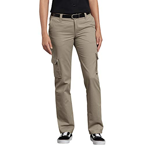 Dickies Damen Relaxed Fit Stretch Cargo Straight Leg Pant Arbeitshose, Desert Sand, 42