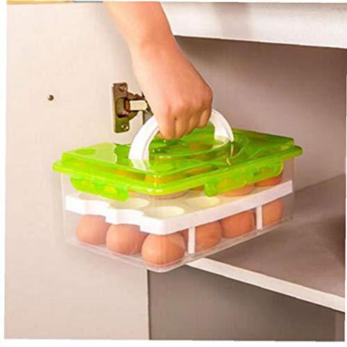 BYFRI 24 Grids Handig Ei voedsel Opbergdoos Keuken Koelkast Anti-botsing lade Container Accessoires benodigdheden Cases Willekeurige kleur