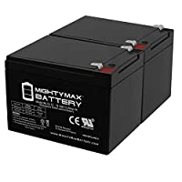 12V 12Ah交換用バッテリーGS Portalac pe12V12–2パック–Mighty Maxバッテリー