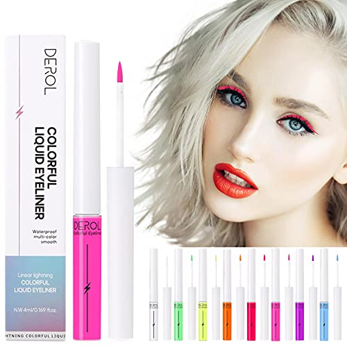 8-color Option Fluorescent Liquid Eyeliner, Quick-drying Water-soluble...