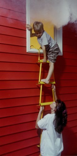 X-IT Emergency Fire Escape Ladder, 3 Story Height