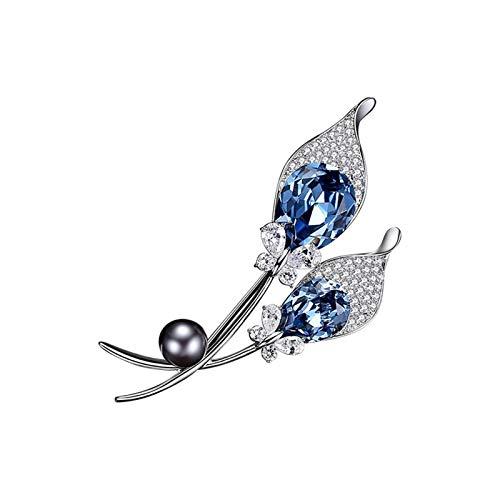 XinQing-Broche Broche Agua del Diamante Broche Pin Mujer Accesorios Cabo botón de la Chaqueta de Punto Temperamento (Color : Brooch)