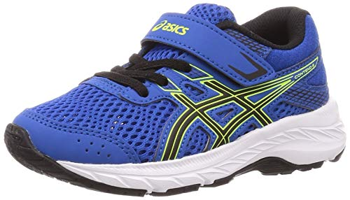 ASICS Unisex-Child Contend 6 PS Running Shoe, Tuna Blue/Black
