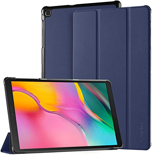 EasyAcc Case for Samsung Galaxy Tab A 10.1 2019 T510/ T515 - Ultra Thin with Stand Function Slim PU Leather Smart Case Fits Samsung Galaxy Tab A T510/ T515 10.1 Inch 2019 Dark Blue