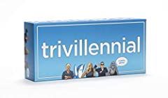 NOTE - The answers are on the reverse (back) side of each card at the bottom! 1,000 trivia questions for millennials, plus answer cards From Psy to Beyoncé, Covfefe to Yanny, Keyboard Cat to Pizza Rat – test how well you know the icons, moments and c...