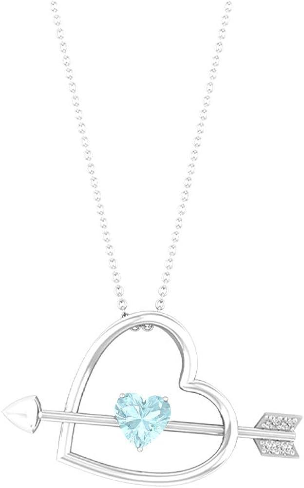 Heart with Arrow Deluxe Pendant 0.88 CT 6 Cheap HI-SI Gemstones MM Diamond