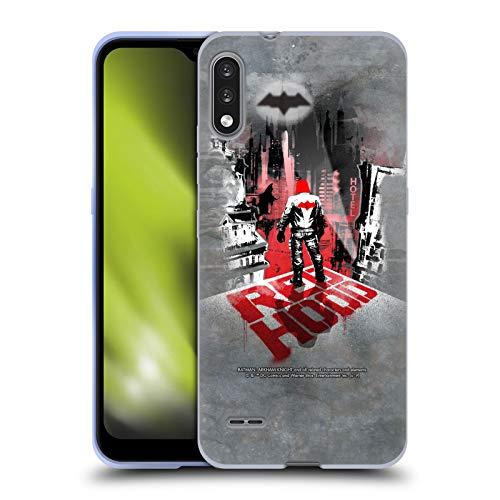 Head Case Designs Oficial Batman: Arkham Knight Capucha Roja Gráficos Carcasa de Gel de Silicona Compatible con LG K22
