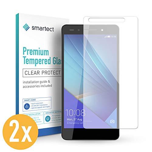 smartect Panzerglas kompatibel mit Huawei Honor 7 / Honor 7 Premium [2 Stück] - Bildschirmschutz mit 9H Festigkeit - Blasenfreie Schutzfolie - Anti Fingerprint Panzerglasfolie