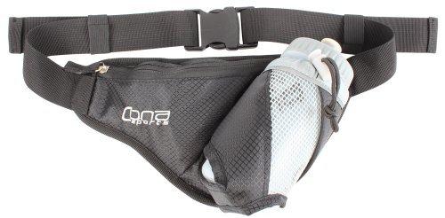 CONA Bottle Belt - Laufgürtel, Bauchtasche, Hütftasche, Hip Pack mit 500 ml Trinkflasche, Farbe: schwarz by CONA SPORTS