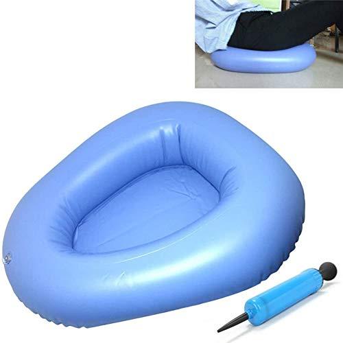 Ewinodon Bedpans Bathroom Bed Pans Air Inflation Bed Pan Bedridden Inflatable Cushions Potty Washable Portable Elderly Bedridden Nursing Toilet Urinals for Men Women 2 PCS