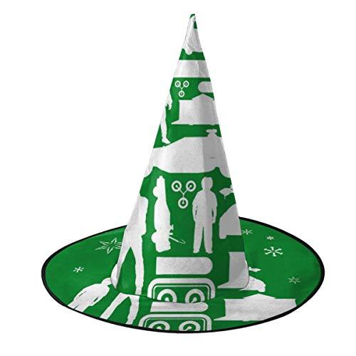 KUKHKU Silueta de árbol de Navidad de Regreso al Futuro, Sombrero de Bruja...