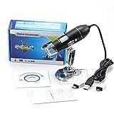 WUYUESUN 1600x 1000x 500x Microscopio electrónico Microscopio USB Micro Tipo-C para teléfono PC Magmifier Cámara Microscopio biológico Digital (Magnification : 1600X)