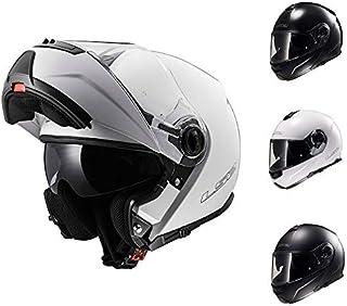 LS2 Casco de Motocicleta FF325 Strobe sólido para Adulto, Moto, Viaje, Aventura, Modular