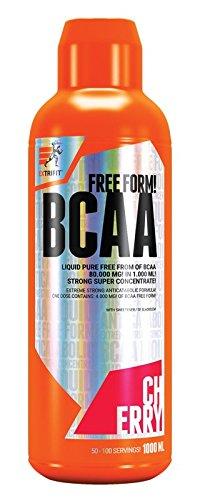 Extrifit BCAA 80000mg Liquid Paquet de 1 x 1000ml - Acides Aminés - Leucine Isoleucine et Valine - Liquide (Cherry)
