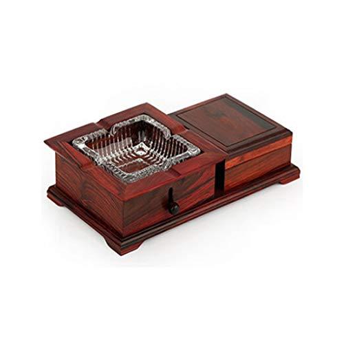 Cenicero de cigarrillos Cenicero Cenicero de madera para el cigarrillo artesanal con la oficina de la sala de estar para el hogar Tabletop del patio para los cigarrillos decorativos vintage único Ceni