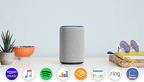 Amazon Echo (3ª generazione) Ricondizionato Certificato, Altoparlante intelligente con Alexa, Tessuto grigio mélange