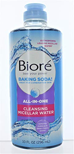 Biore Baking Soda Cleanser Micellar Water 10 Ounce (296ml) (2 Pack)